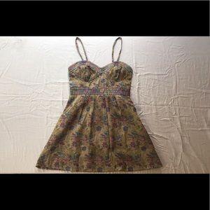 Free People corset bust mini dress